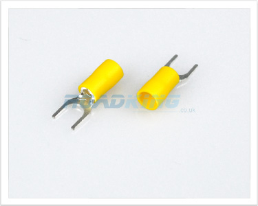 Terminal Spade | 6.4mm Yellow | 100 Pcs