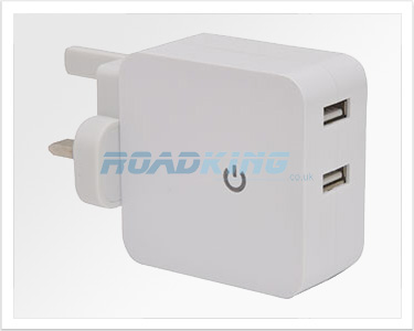 Twin USB Mains Charger | 2100mA