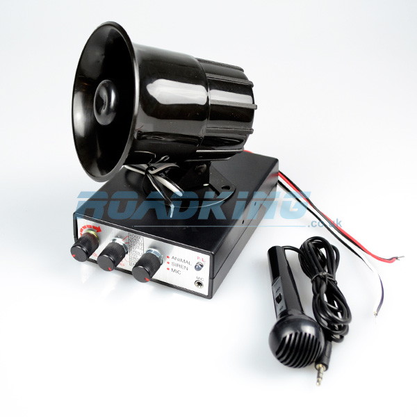 PA System with Siren and Animal Noises - 12v