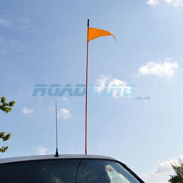 Safety Flag 5ft Red Stick | Buggy Whip