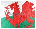Wales (Welsh Dragon) Flag - 5' x 3'