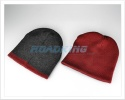 Reversible Beanie Hat - Grey/Red