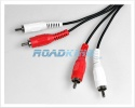 Phono To Phono Red & White Stereo RCA Audio Cable | HiFi / CD / DVD Lead | 10m