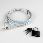 Rolson Security Cable & Lock | 3m x 4mm