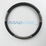 Truck Steering Wheel Cover | Grey & Black | 47-48cm