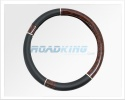 Steering Wheel Cover | Car, Van, 4x4 | Leather & Maple | 38-40cm