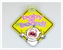 3D Car Window Sucker Sign - Baby on Board