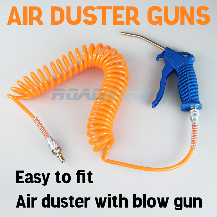 Air duster guns attach to the auxiliary air line in a truck and allow you to easily dust your HGV cab with a blast of air.