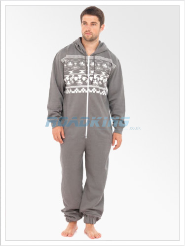 Mens Fairilse Hooded Onesie | All In One Grey