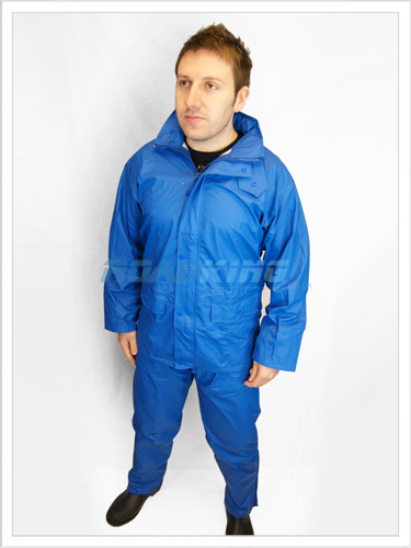 Waterproof Clothing Suit | Heavy Duty Rainsuit Jacket & Trousers | Blue