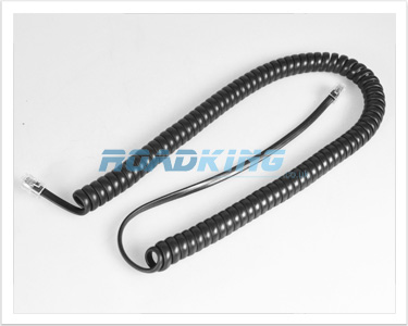 Telephone Handset Curly Cord / Lead | RJ10 To RJ10 Plug 4P4C | 3m