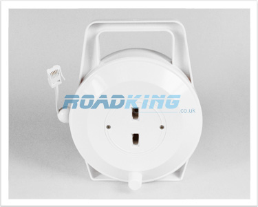 Telephone Cable Dual Outlet Extension Reel | 10m