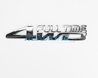 Full Time 4WD Chrome Badge | 15cm