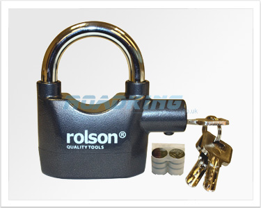 Rolson Heavy Duty Alarm Padlock | 110dB Siren Alarm - Ex Display