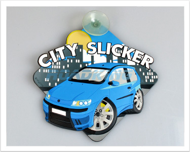 3D Car Window  Sucker Sign - City Slicker
