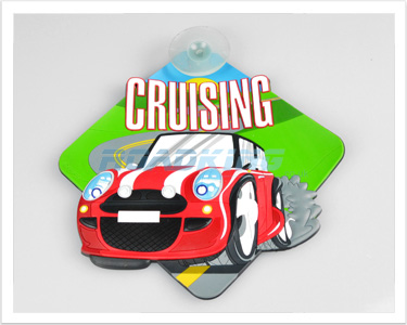 3D Car Window Sucker Sign - Cruising