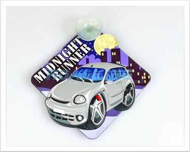 3D Car Window Sucker Sign - Midnight Runner