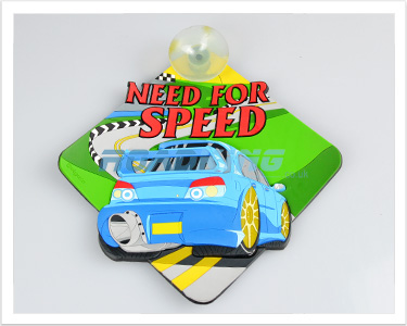 3D Car Window Sucker Sign - Need for Speed