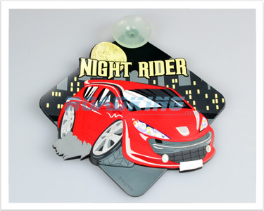 3D Car Window Sucker Sign - Night Rider