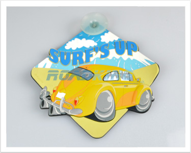 3D Car Window Sucker Sign - Surfs Up