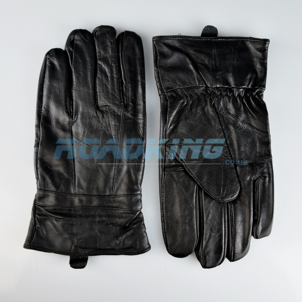 Mens Leather Gloves | Black