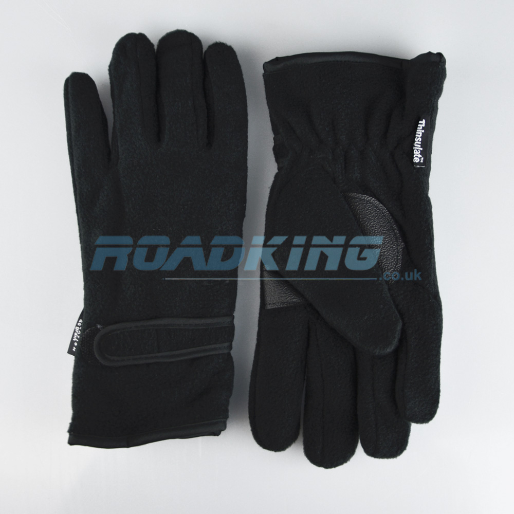 Thermal Fleece Thinsulate Gloves | 3M | Black