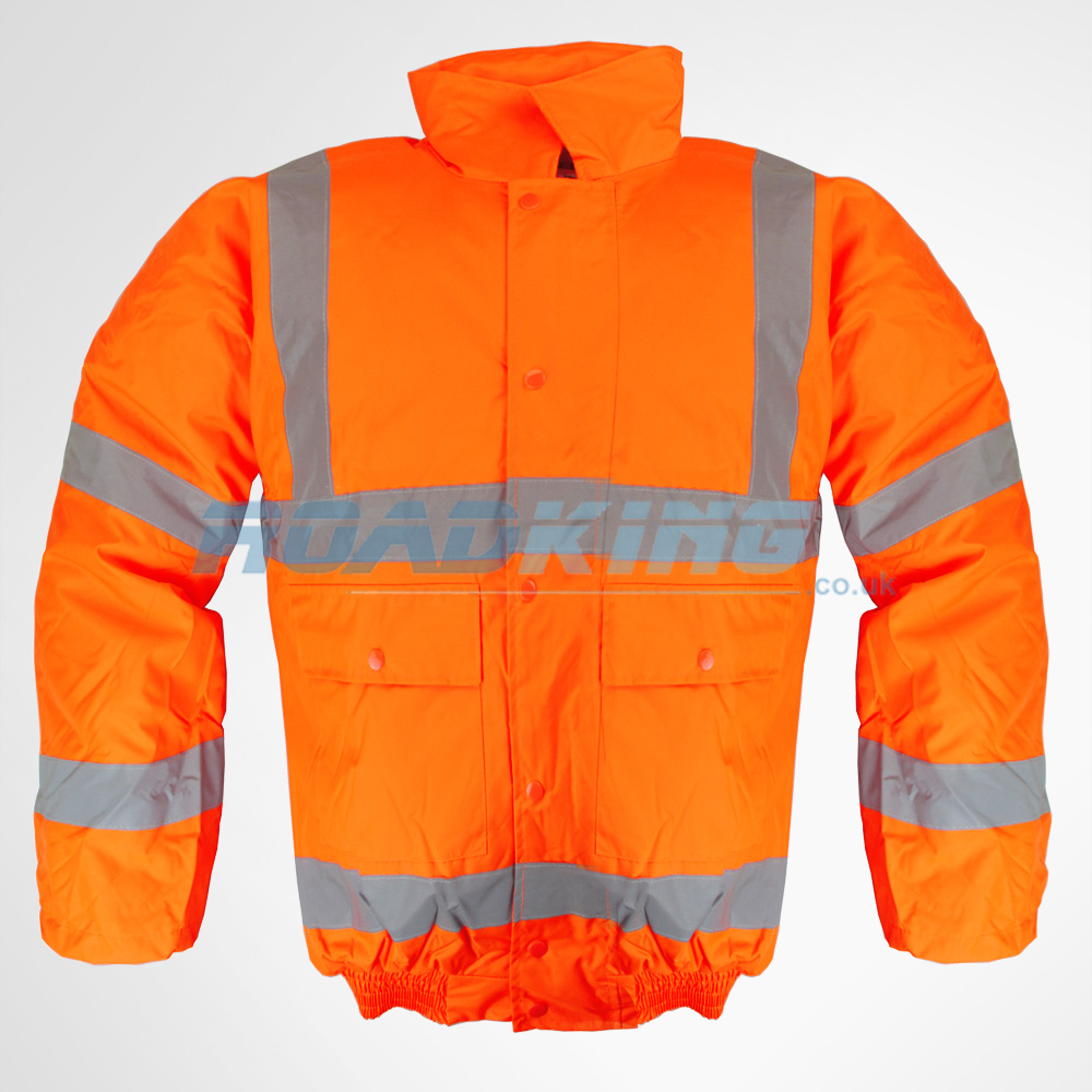 Hi-Vis Bomber Jacket | Orange