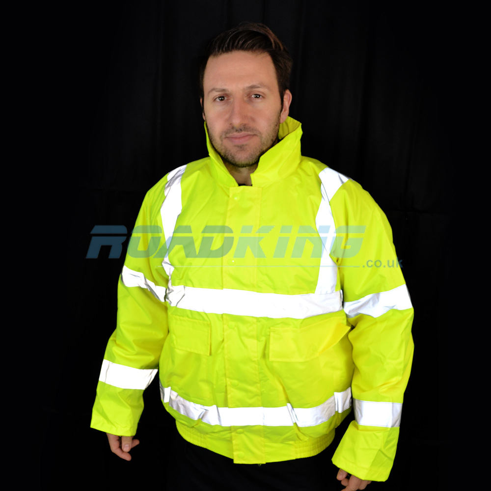 Hi-Vis Bomber Jacket | Yellow