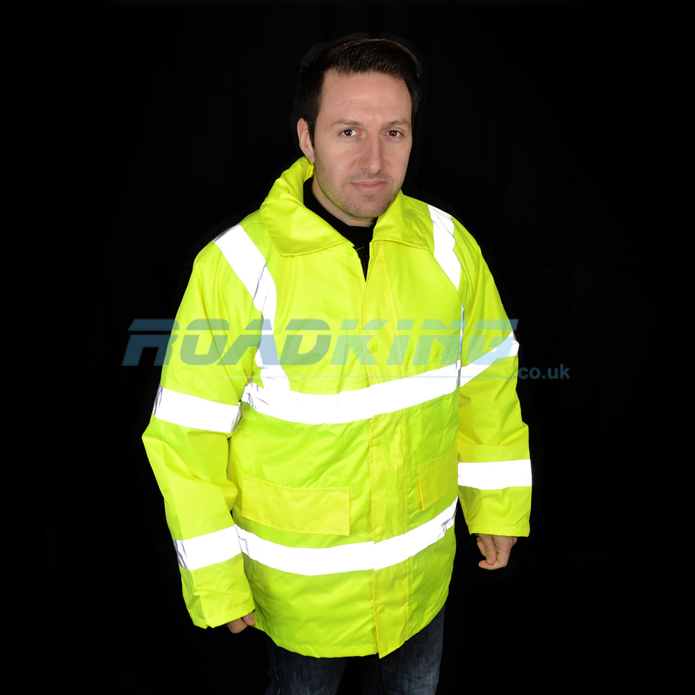 Hi-Vis Long Parka Jacket | Yellow