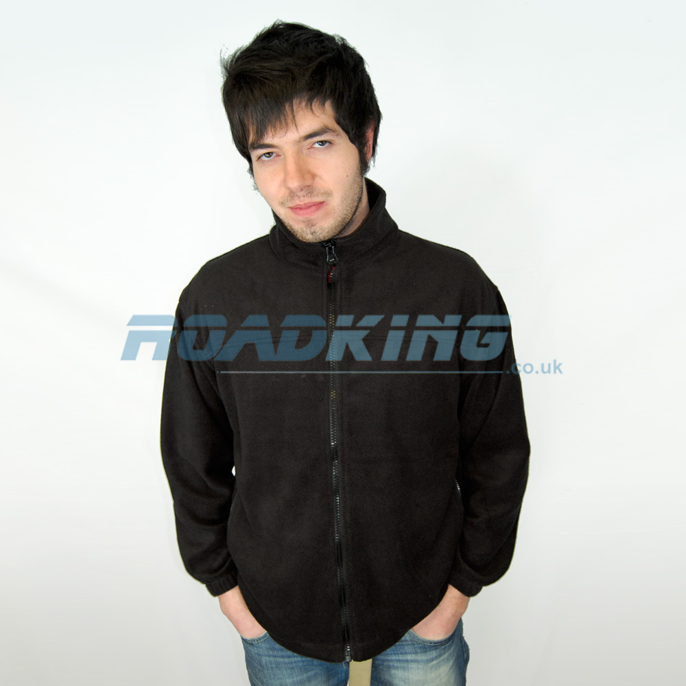 Black Zip-up Fleece Jacket