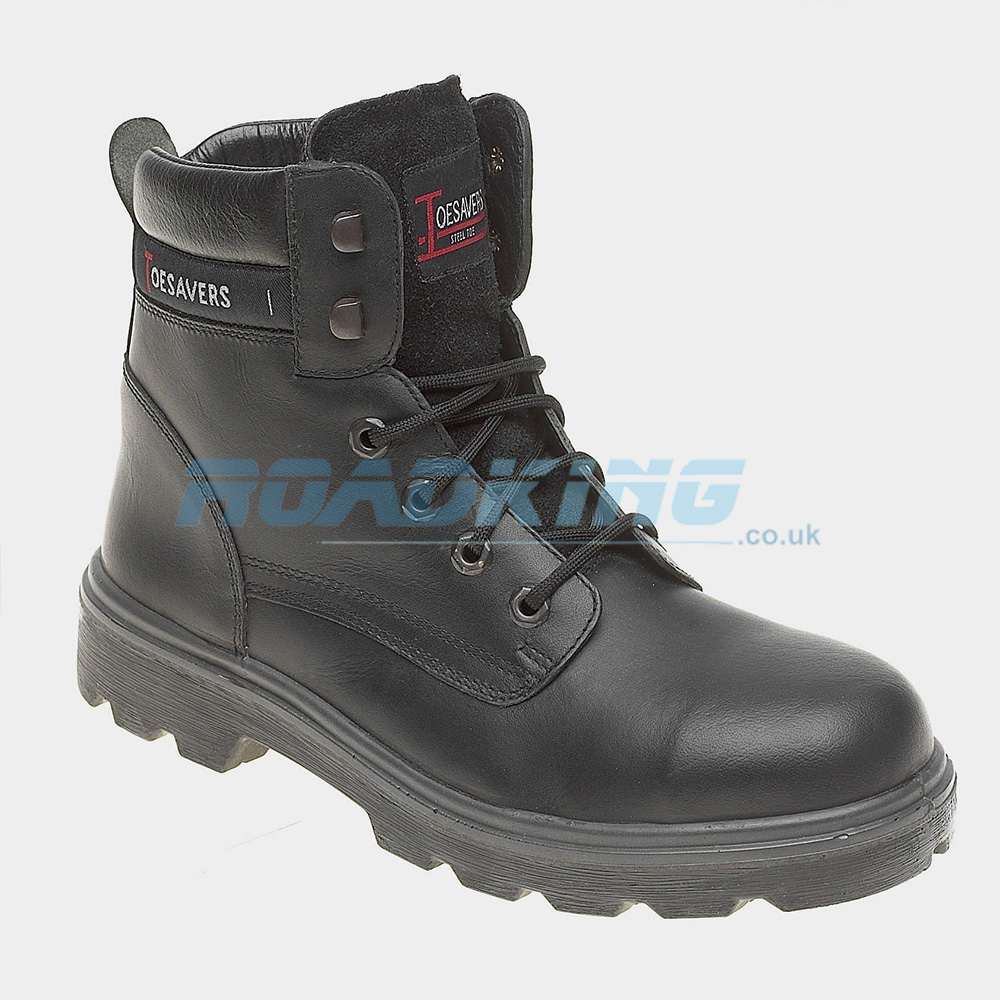 Toesavers Leather Safety Boot | Black | Size 12 Only