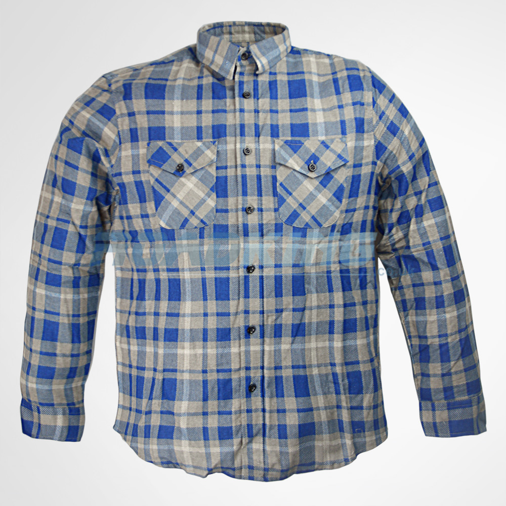 Mens Flannel Checked Lumberjack Brush Cotton Rockabilly Work Check