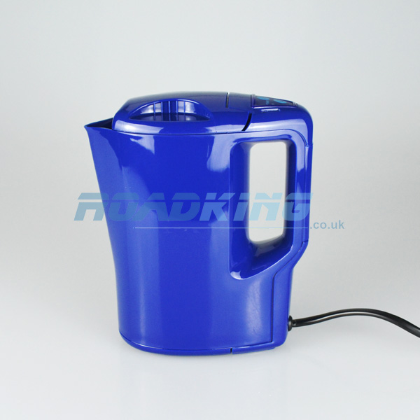 1 Litre Electric Car Kettle with Plug | Blue | 12v