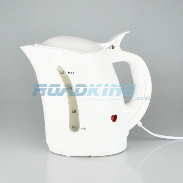 1 Litre Travel Kettle with Hella Plug | White | 24v