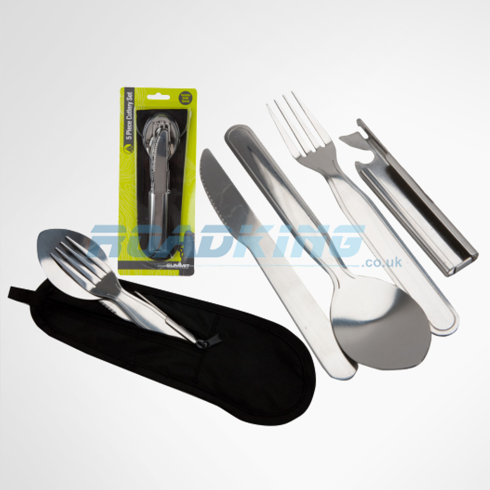 Lightweight Camping Cutlery Set 4 In 1 With Pouch 5