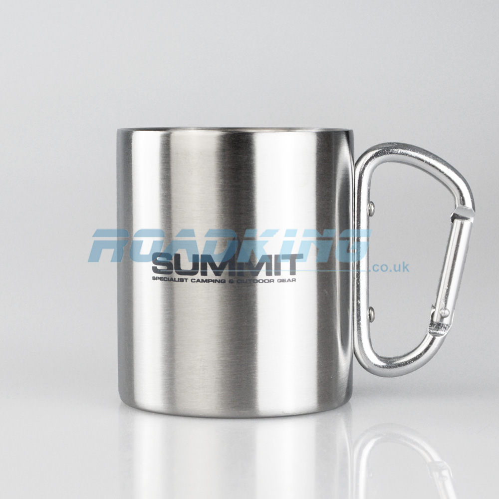 Travel / Camping Mug with Carabiner | Stainless Steel