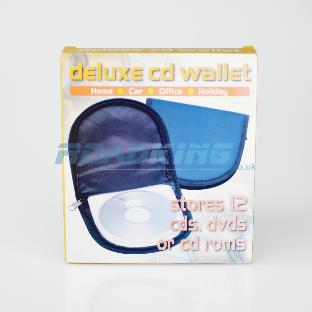 12 CD / DVD DJ Disc Wallet | Blue