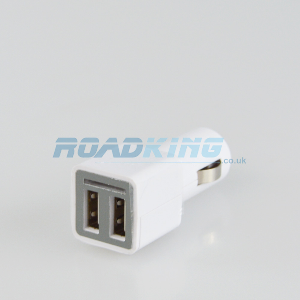 2 Port USB Adaptor Car Charger | 2100mA | 12v / 24v - Ex-Display