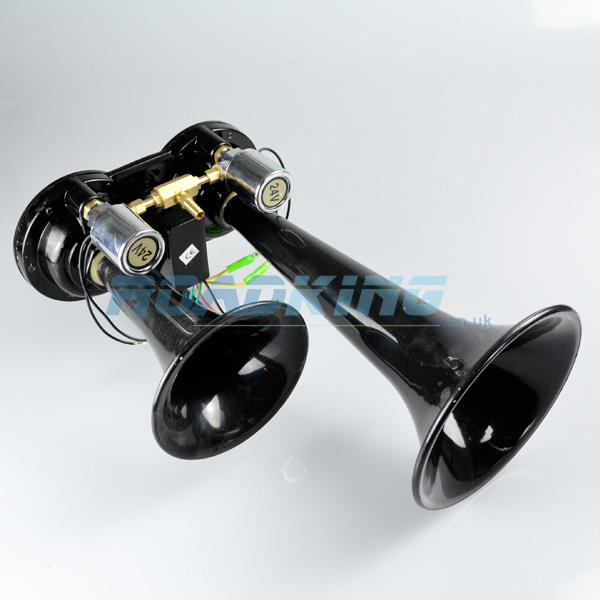 24 Volt Black TGV Air Horn