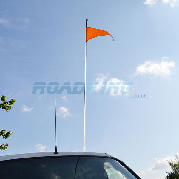 Safety Flag 5ft White Stick | Buggy Whip