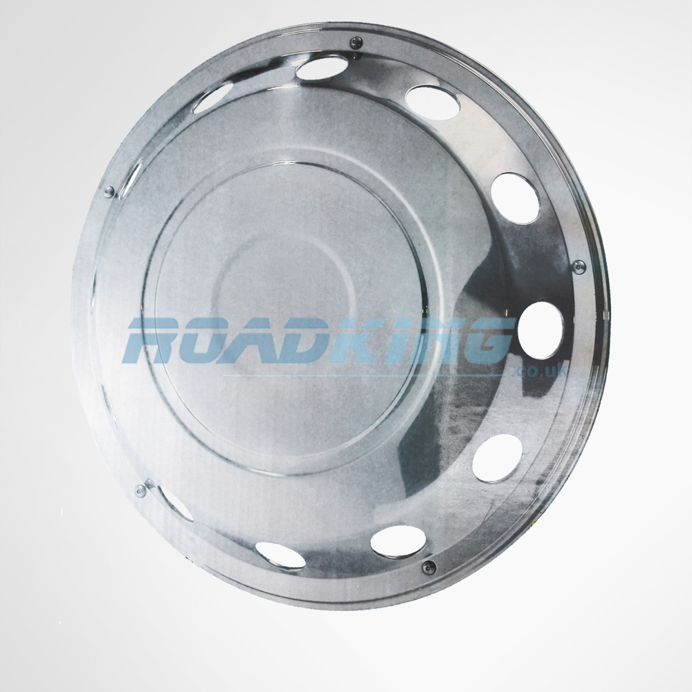 Wheel Covers | 2x Stainless Steel Truck Wheel Covers | 60.5 x 15cm