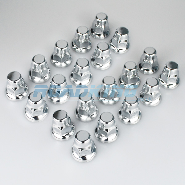 Chrome Truck Wheel Nut Covers | 20x 32mm