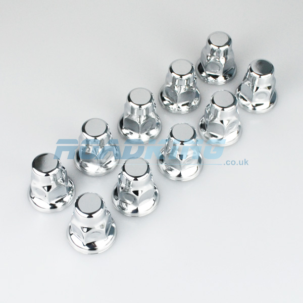 Chrome Truck Wheel Nut Covers | 10x 32mm