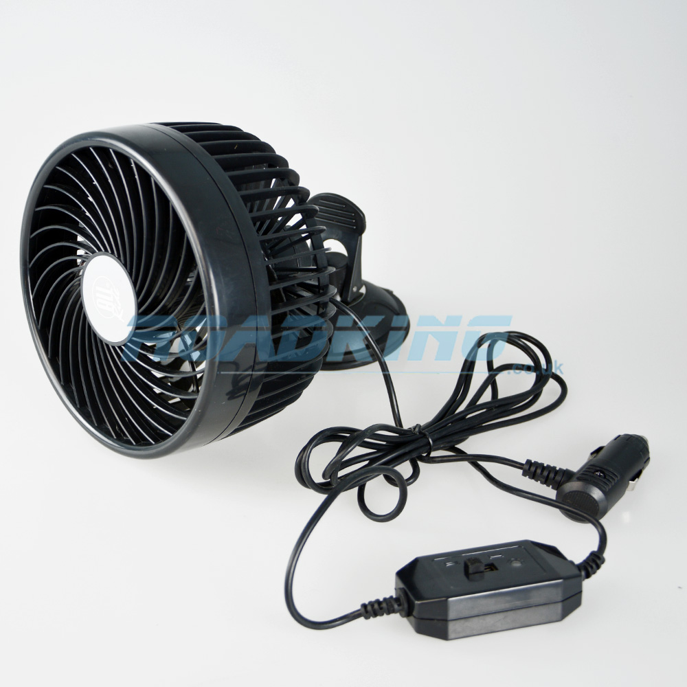 24v Cooling Fan | 6 Inch Fan with Suction Cup / Clip-On