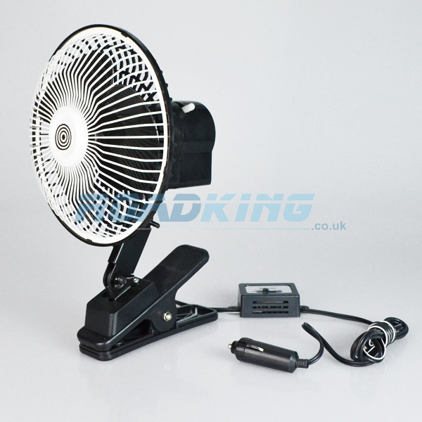 24v Cooling Fan | Clip-On | 8 Inch Oscillating