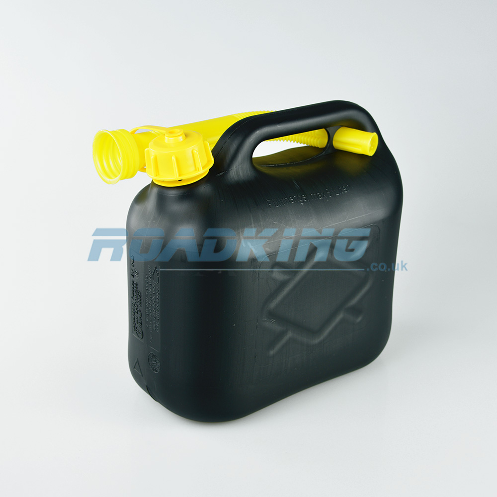 Jerry Can 5L | 5 Litre Black Plastic Fuel Can