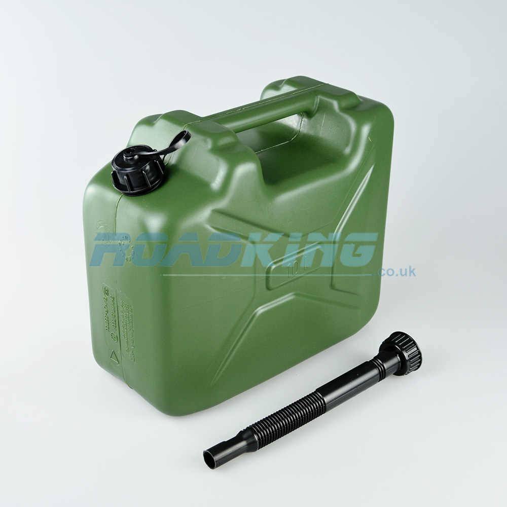 Jerry Can 10L | 10 Litre Green Plastic Fuel Can