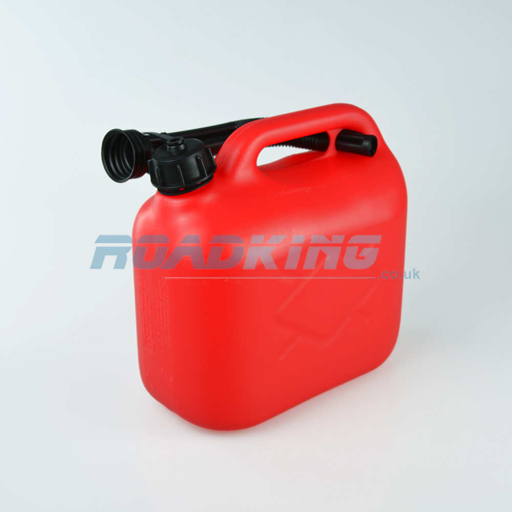 Plastic Gas Cans >> Jerry Can 5l 5 Litre Red Plastic Fuel Can