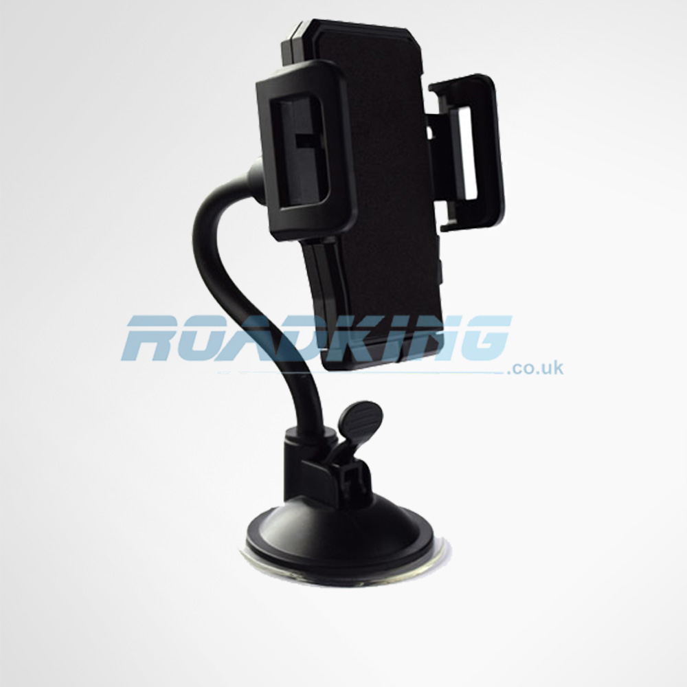 Car Phone Mount | Gooseneck Windscreen Sat Nav Holder & Mobile Phone for Car / Truck / Van