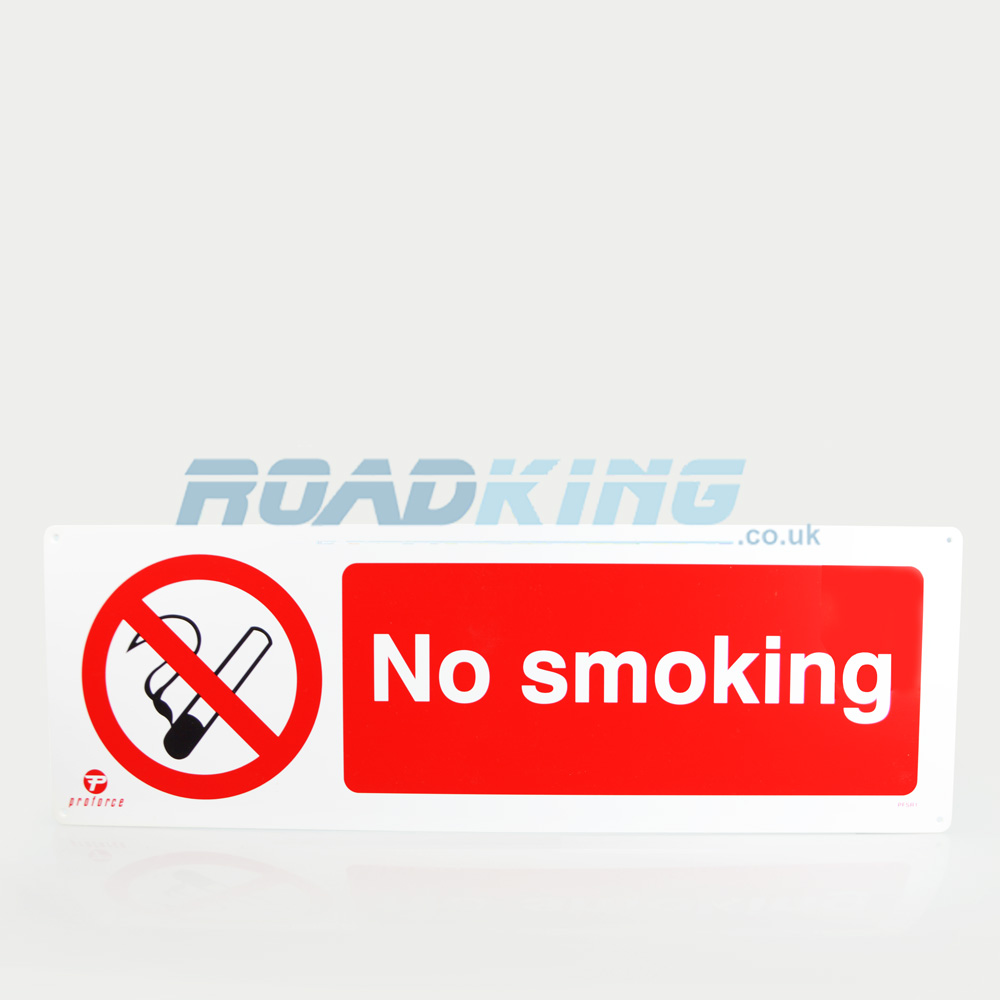 No Smoking Sign - 60cm x 20cm